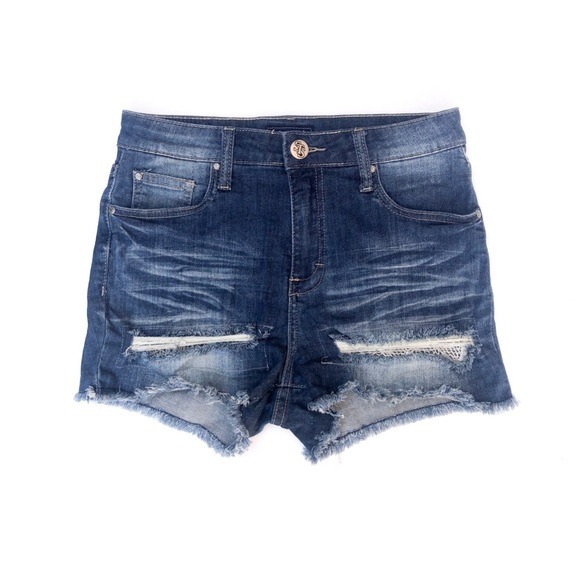 STS Blue Pants - STS Blue Distressed High Waisted Denim Shorts